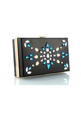 Čierna kabelka pre dámy s nádhernými ozdobami