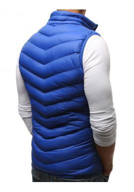 Pánska prešívaná vesta bez kapucne v červenej farbe