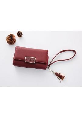 Štýlová dámska peňaženka ružovej farby