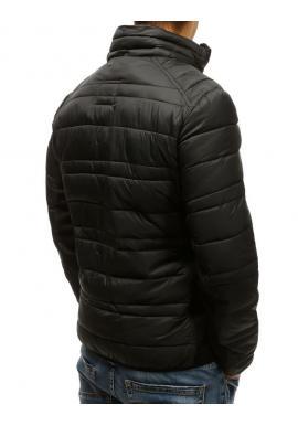 Prešívaná pánska bunda čiernej farby bez kapucne