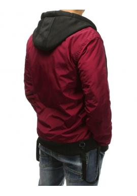 Pánska prechodná bunda s kapucňou v čiernej farbe