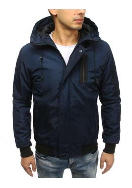 Čierna prechodná bunda s kapucňou pre pánov