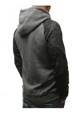 Módna pánska mikina čiernej farby s potlačou