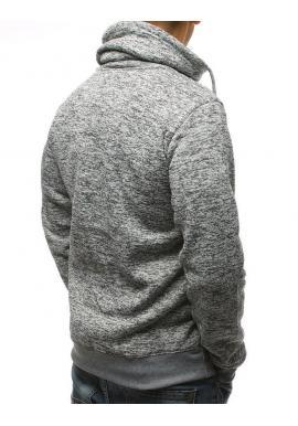 Sivá štýlová mikina s rolákom pre pánov