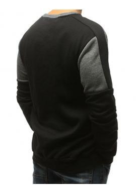 Sivo-čierna športová mikina bez kapucne pre pánov