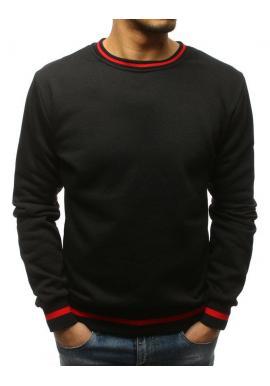 Športová pánska mikina čierno-sivej farby bez kapucne