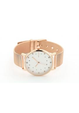 Dámske elegantné hodinky s kryštálmi v zlatej farbe