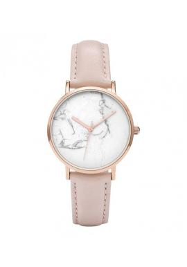 Zelené elegantné hodinky s ružovo-zlatým ciferníkom pre dámy