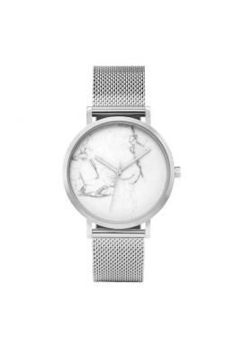 Zlaté elegantné hodinky s bielym ciferníkom pre dámy
