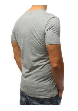 Športové pánske tričko modrej farby s potlačou