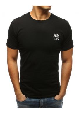 Svetlomodré štýlové tričko s potlačou na hrudi pre pánov
