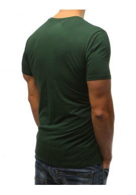 Štýlové pánske tričko bielej farby s potlačou na hrudi