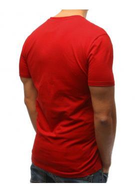 Čierne štýlové tričko s potlačou na hrudi pre pánov