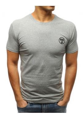 Pánske štýlové tričko s potlačou na hrudi v svetlozelenej farbe