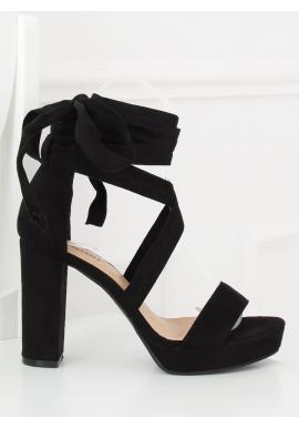 Ružové sandále na podpätku s motívom hadej kože pre dámy