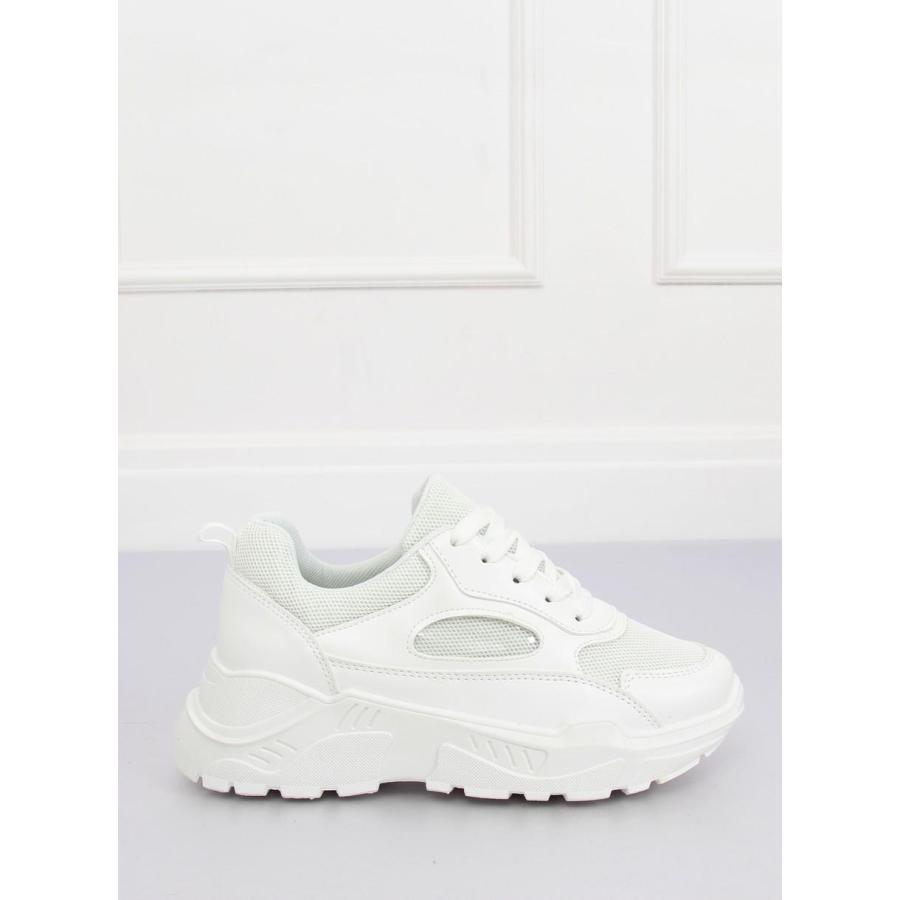 Dámske športové tenisky na vysokej podrážke v bielej farbe ... 8e57b765fc4