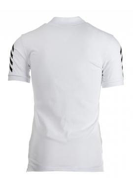 Čierna pánska polokošeľa s bielou potlačou