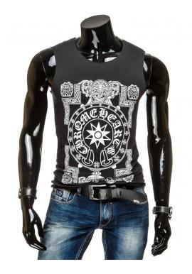 Pánske tričko bez rukávov v tmavosivej farbe