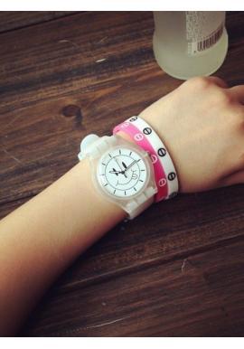 Silikónové unisex hodinky Smiley čiernej farby