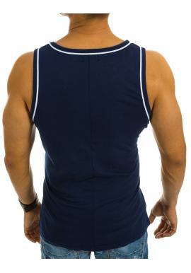Moderné pánske tričko s potlačou v sivej farbe