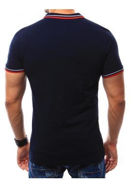 Čierna bavlnená polokošeľa s výšivkou pre pánov