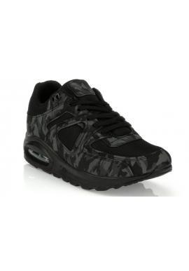 Zeleno-čierne Sneakersy s maskáčovým vzorom pre pánov