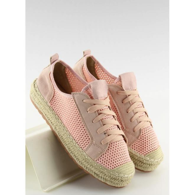 4e170ec25c3a Módne dámske tenisky ružovej farby na vysokej ľanovej podrážke ...