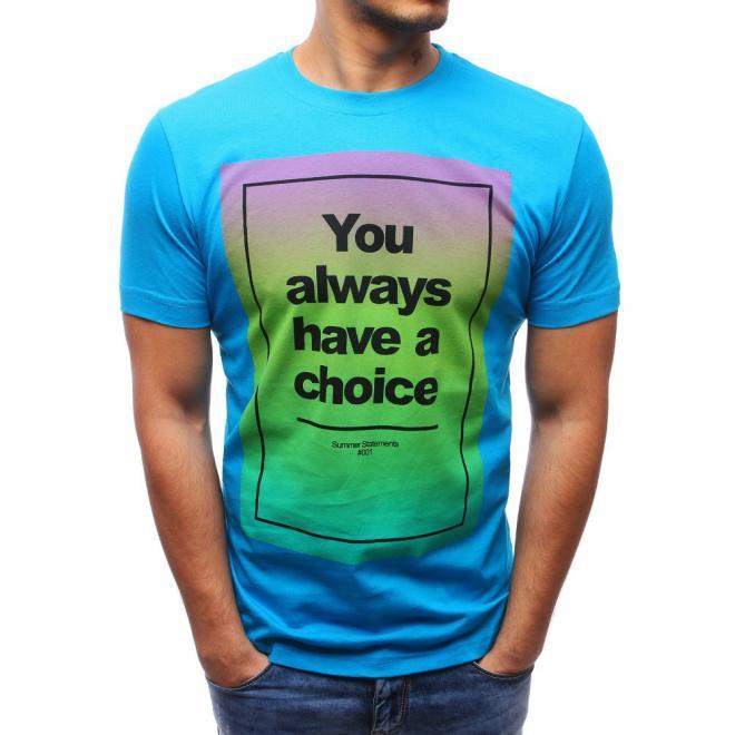 Tričko pre pánov s farebnou potlačou v červenej farbe