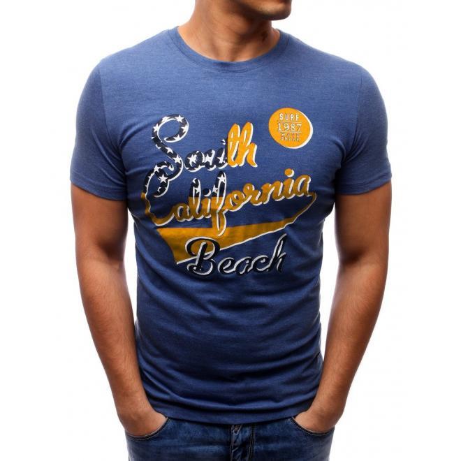 Tričko pre pánov s nápisom v tmavosivej farbe