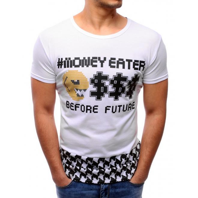 Čierno-sivé tričko s vreckom na hrudi pre pánov