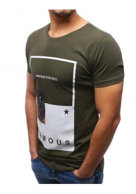 226a04e47c14 ... Biele moderné tričko s potlačou pre pánov