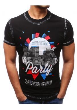 556fee4f88a5 Tmavosivé tričko s nášivkami pre pánov ...