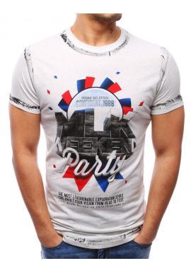 Tričko pre pánov v čiernej farbe s potlačou