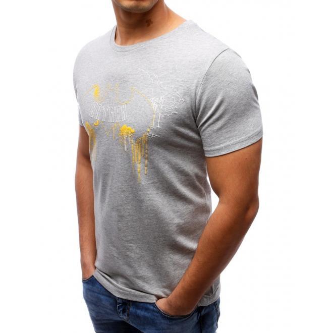 Tričko pre pánov s motívom Batmana v sivej farbe