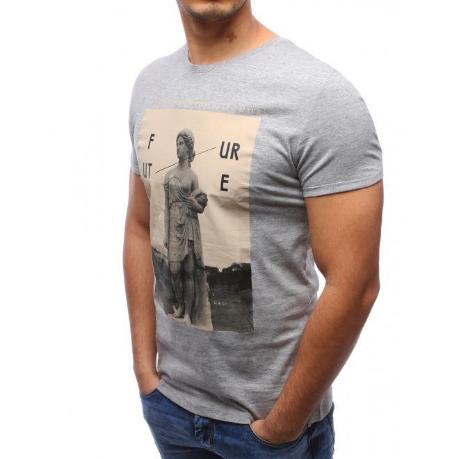 Pánske tričko svetlosivej farby s motívom Batmana