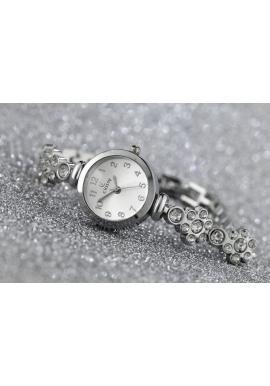 Zlaté elegantné hodinky na kovovom remienku pre dámy