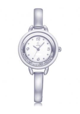 Strieborné elegantné hodinky s kryštálmi pre dámy