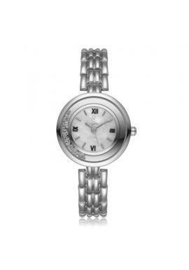 Dámske elegantné hodinky striebornej farby s čiernym ciferníkom
