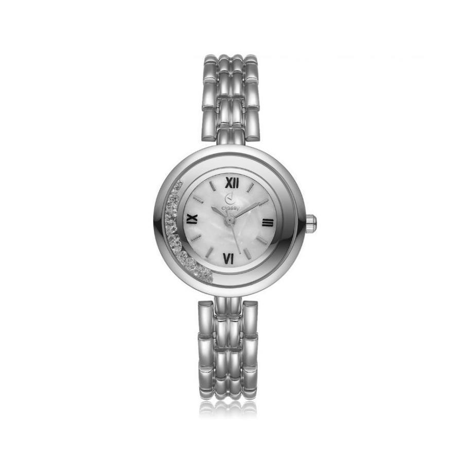 Dámske elegantné hodinky striebornej farby s čiernym ciferníkom. Loading  zoom df2a345e5fb