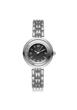 Dámske elegantné hodinky striebornej farby s bielym ciferníkom