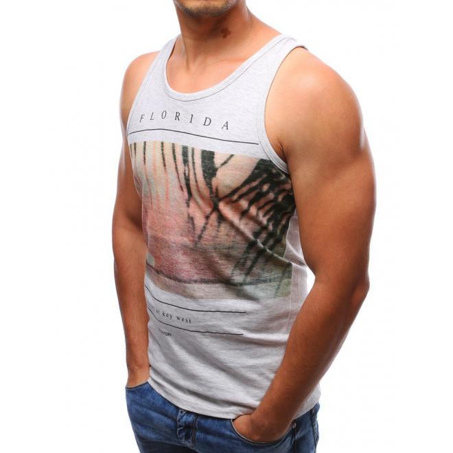 Pánske tričko bez rukávov AM - čierne