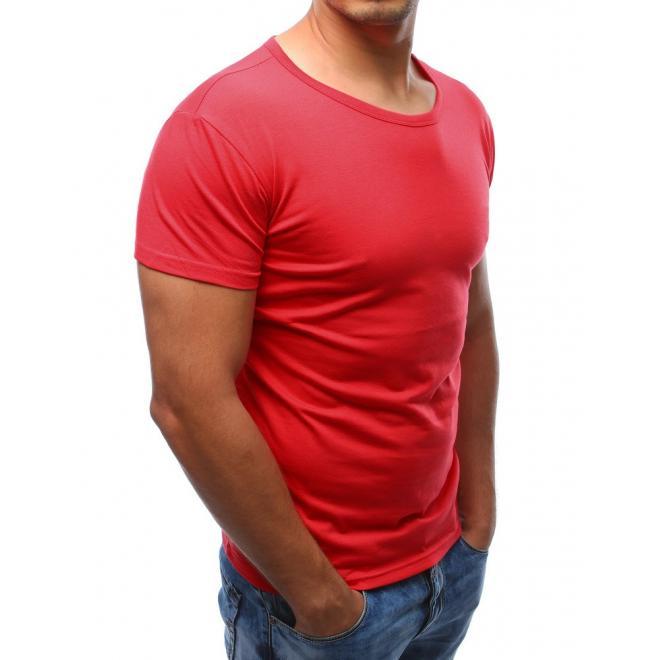 Pánske tričko s krátkym rukávom v červenej farbe