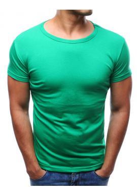Modré tričko s okrúhlym výstrihom pre pánov