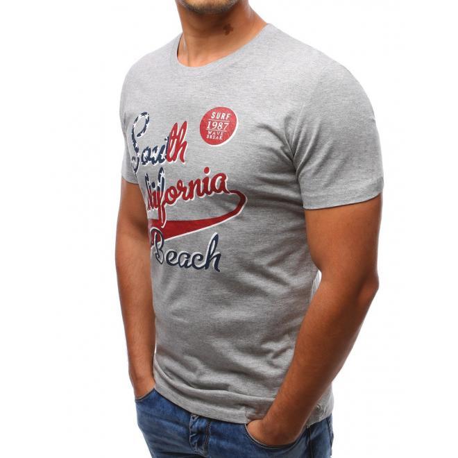 Pánske tričko tmavomodrej farby s nápisom