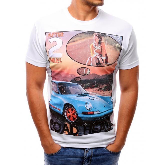 Tmavosivé tričko s retro potlačou pre pánov