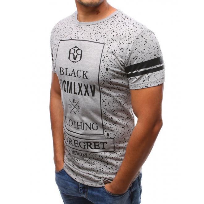 Tričko pre pánov v bielej farbe s potlačou