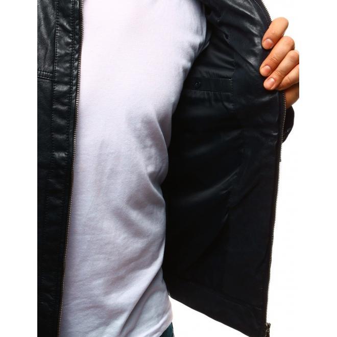 Prešívaná kožená bunda v bordovej farbe