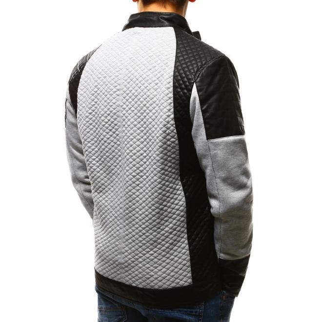 Tmavomodrá prešívaná bunda na prechodné obdobie