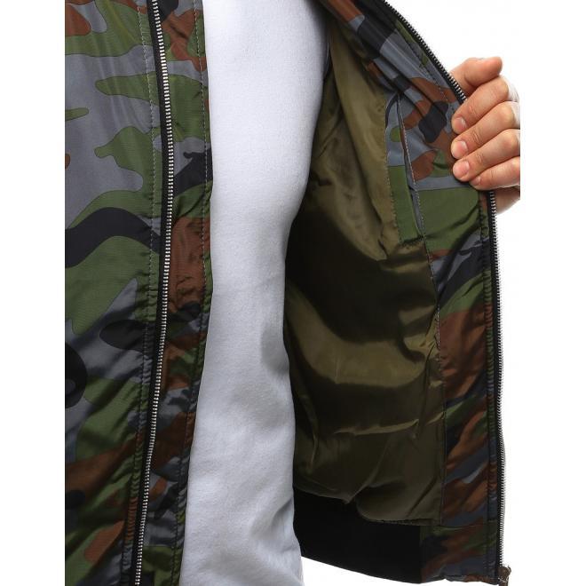 Modrá prechodná bunda s kapucňou pre pánov