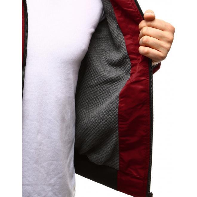 Pánska prechodná bunda s kapucňou tmavomodrej farby